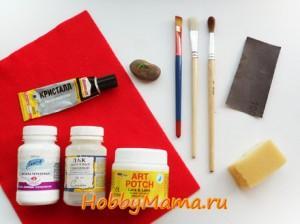 Инструменты и материалы для декупажа пасхального яйца