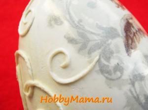 Пасхальное яйцо пейп-арт