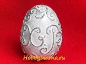 Пасхальное яйцо в технике пейп-арт Мастер-класс