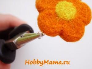 Цветок-бусина в техникае сухого валяния Мастер-класс
