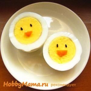 Цыпленок из вареного яйца