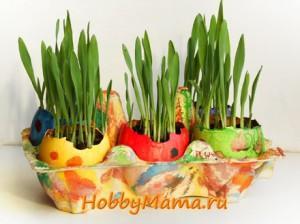 Пасхальный декор с детьми Проращивание ячменя в скорлупеПасхальный декор с детьми Проращивание ячменя в скорлупе