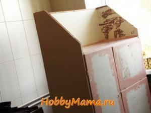 Шкаф для реставрации в технике декупаж