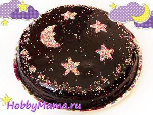 Торт шоколадный Ночка Домашний рецепт