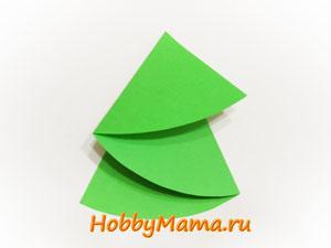 Как сделать Елочку из цветной бумаги