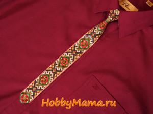 Вышитый галстук Мастер-класс Схема вышивки