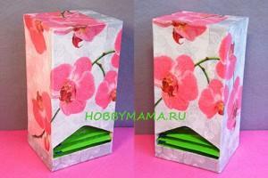 Мастер-класс «Декупаж коробочки для чайных пакетиков»