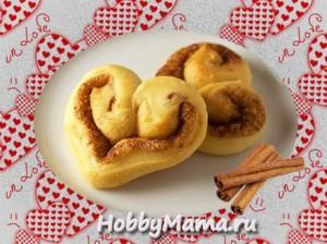 Булочки-сердечки на День влюбленных