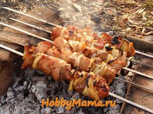 Приготовление шашлыка из свинины и баранины. Рецепты маринада