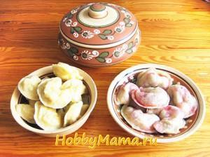 Вареники в лучших традициях украинской национальной кухни