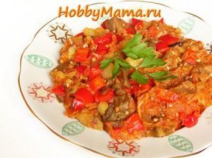 Манжа - овощная икра с печеными баклажанами. Рецепт