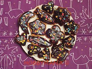 Домашнее песочное печенье с шоколадной глазурью