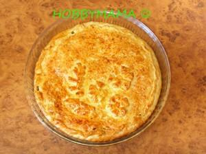 Ароматный пирог с начинкой из квашеной капусты